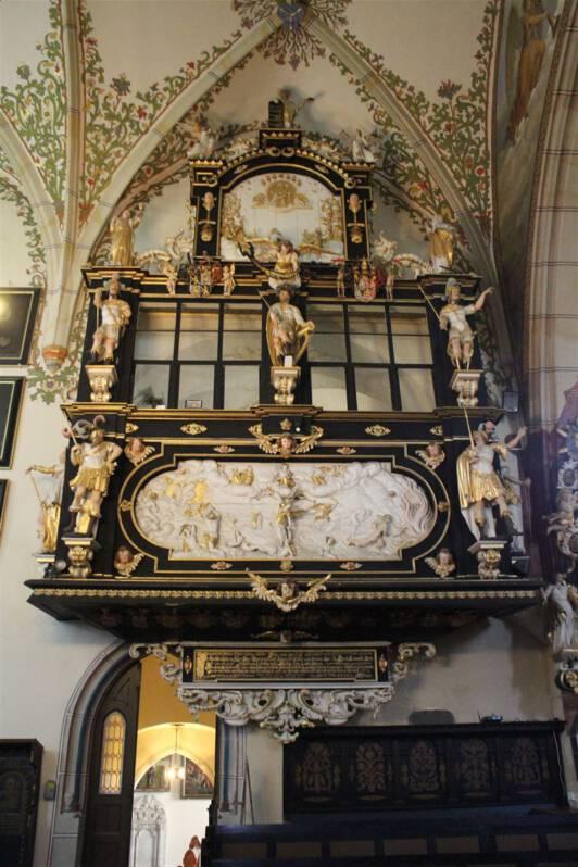 Der Fürstenstand in der Bergkirche Schleiz