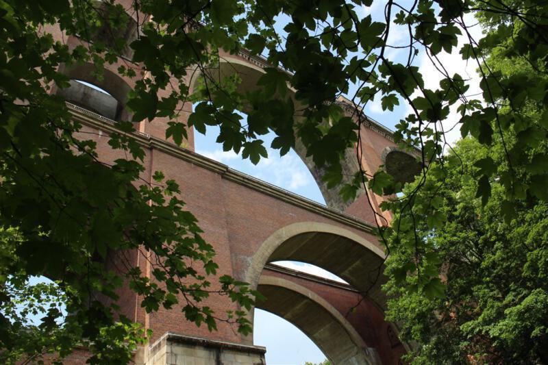 Die Elstertalbrücke bei Jocketa
