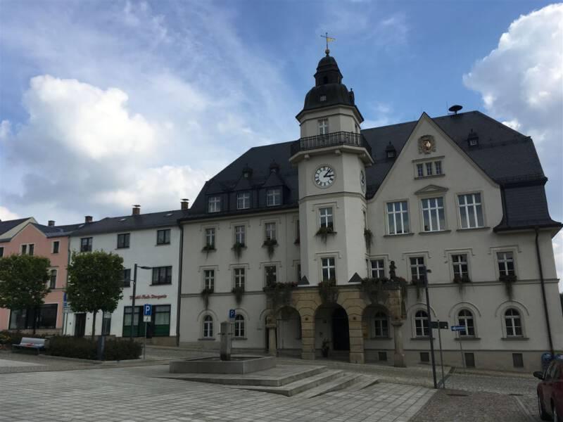 Ausflug nach Treuen im Vogtland: das Rathaus