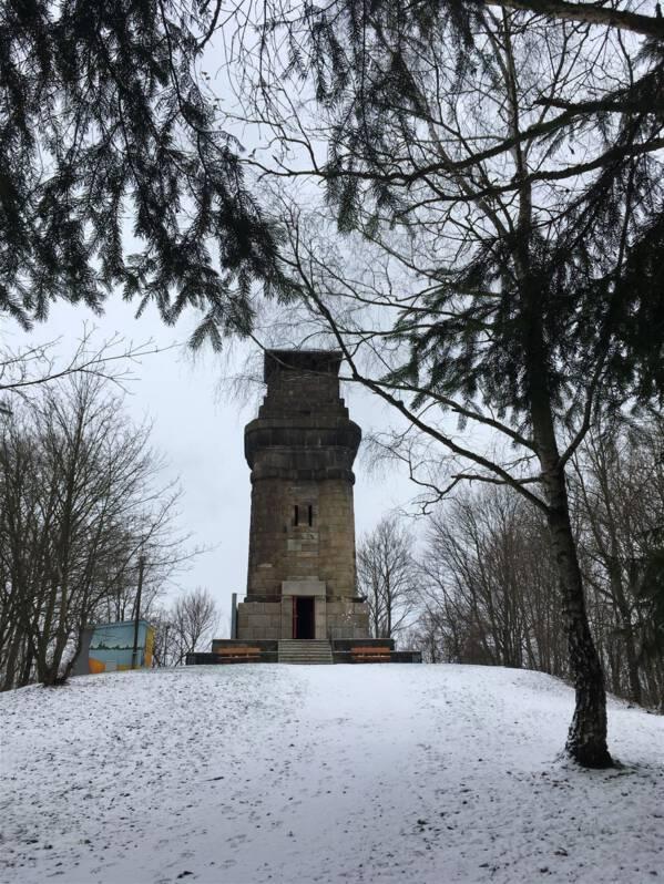 Der Bismarckturm auf dem Kemmler in Plauen