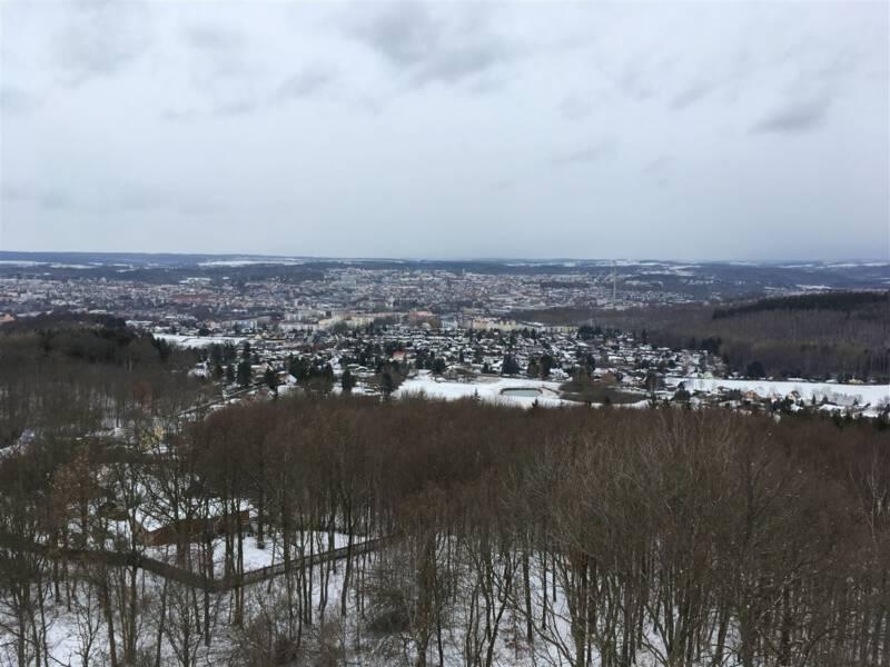 Blick auf Plauen vom Kemmlerturm