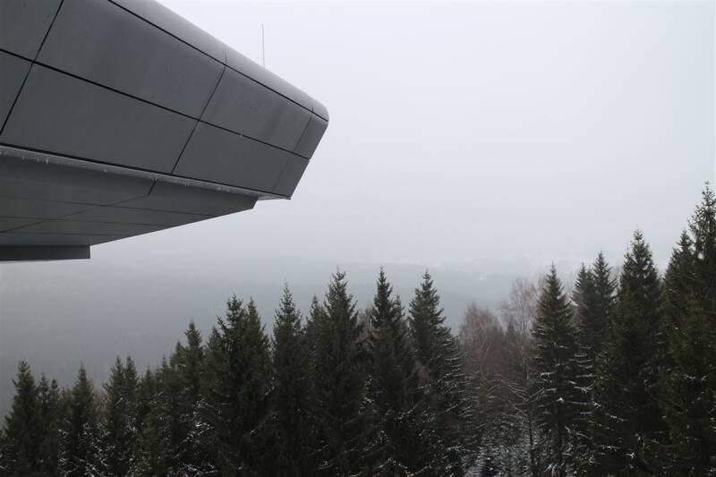 Aussicht von der Vogtland-Arena ins Vogtland