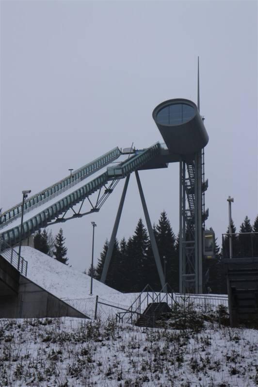 Vogtlandarena in Klingenthal: Blick auf die Schanze