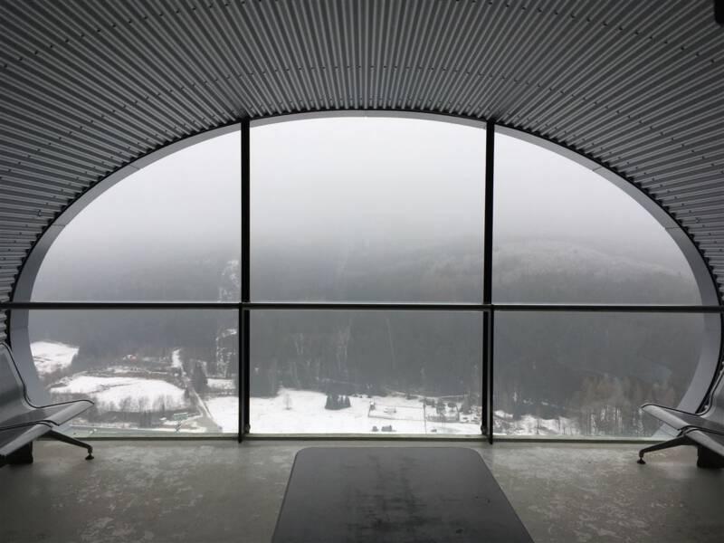 Blick aus der Kapsel der Vogtlandarena