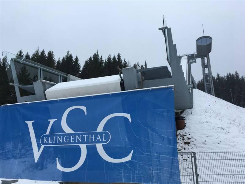 Ausflug zur Schanze in der Vogtlandarena Klingenthal / Vogtland / Sachsen