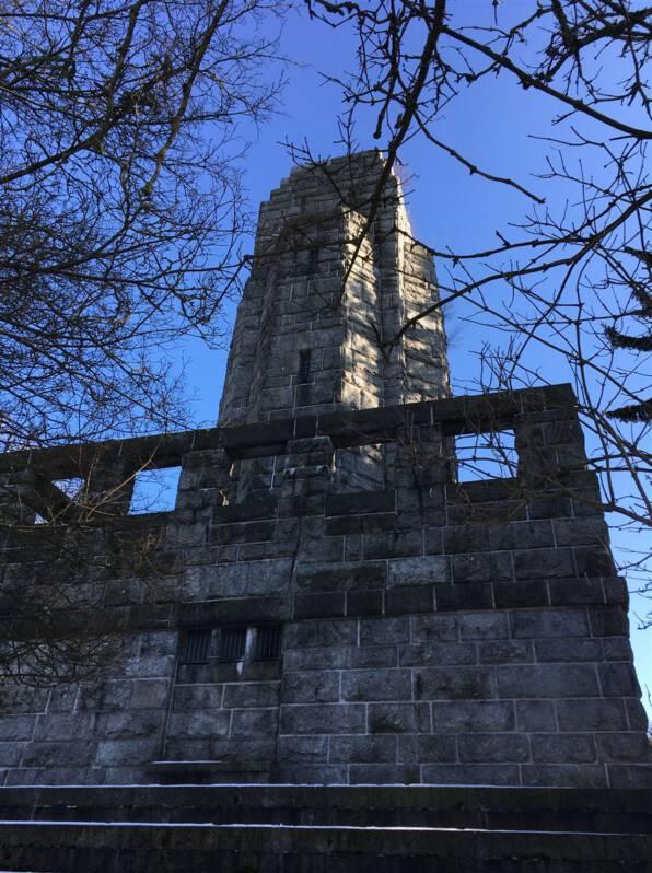 Ausflugsziel im bayerischen Vogtland - der Bismarckturm in Hof