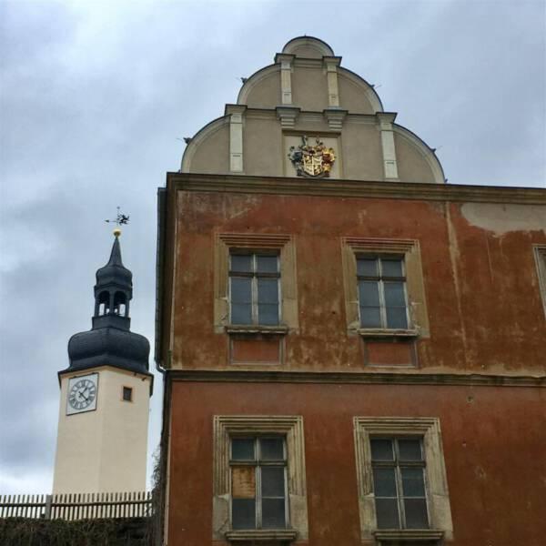 Ausflugsziel - das Obere Schloss in Greiz / Vogtland / Thüringen
