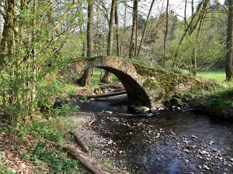 Reisetipp: wanderung im Vogtland zur alten Schafbrücke im Kemnitzbachtal im Vogtland