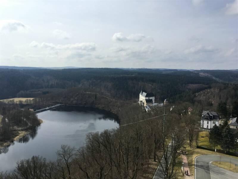 sehenswert: Saaleturm in Burgk / Vogtland / Thüringen - Ausblick