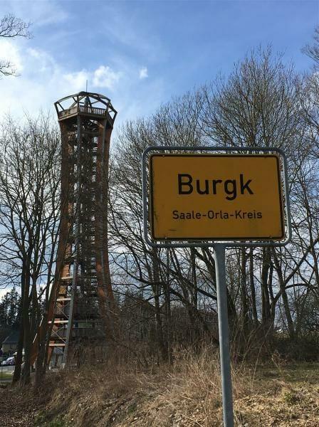 Ausflugsziel sehenswert: Saaleturm in Burgk / Vogtland / Thüringen