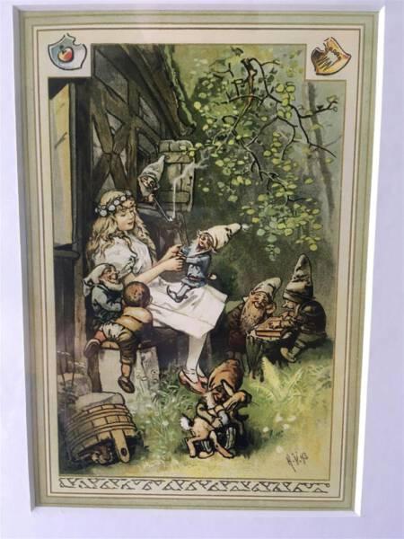 Das Hermann-Vogel-Haus in Krebes - Illustration zu Grimms Märchen