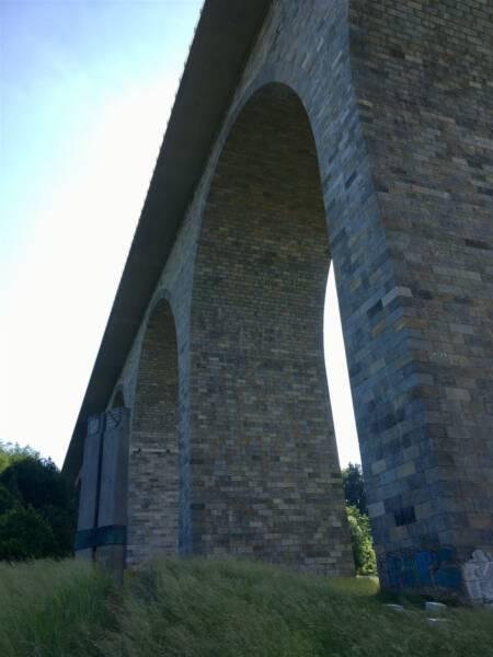 Die Autobahnbrücke Pirk Vogtland / Sachsen