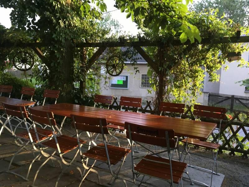 Ausflugsziel im Vogtland / Sachsen - Talsperre Pöhl - Gaststätte Edelweiß - Freisitz