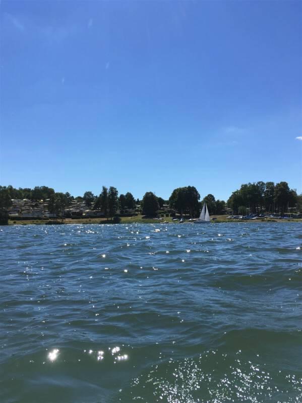Talsperre Pöhl - Ausflug im Vogtland / Sachsen Campen, baden, schwimmen
