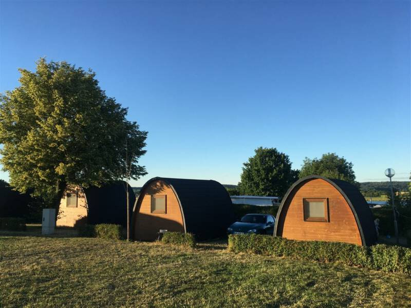 Ausflug im Vogtland / Sachsen - Talsperre Pöhl - Camping - Hütten
