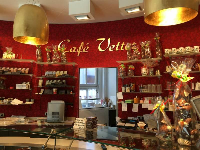 Blick ins Café Vetter in Hof / Bayern