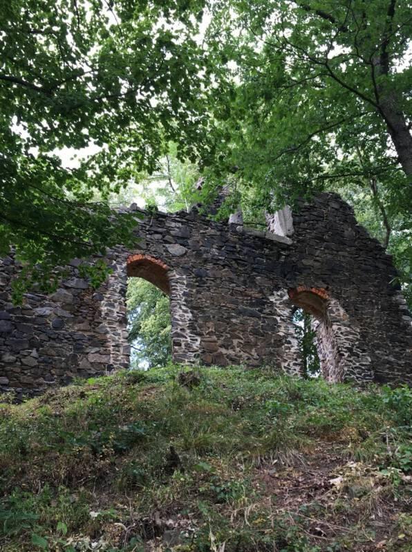 Ein letzter Blick auf die Burgruine