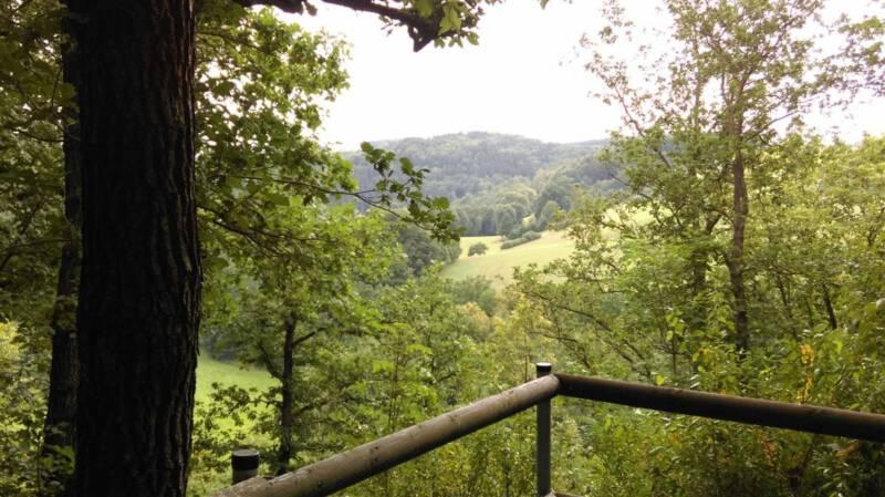 Ausflug zur Burgruine Liebau unweit der Talsperre Pöhl im Vogtland mit einem tollen Blick aufs Elstertal