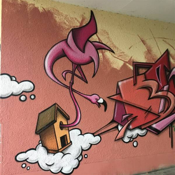 Street Art in Plauen am Fußgängertunnel am Bahnhof