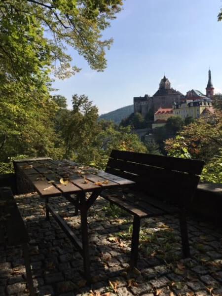 Blick auf Burg Loket