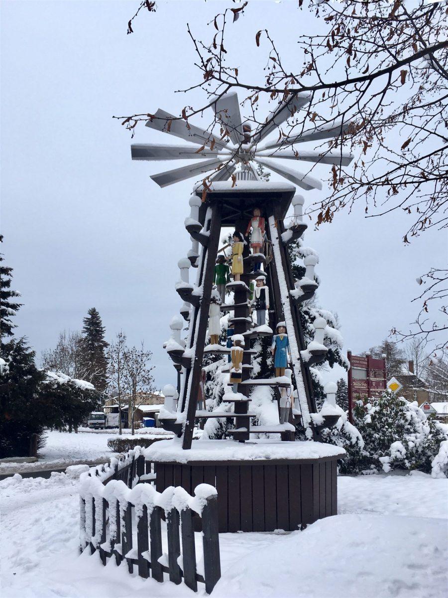 Ausflug in Sachsen zu Weihnachten: Die Pyramide in Rothenkirchen