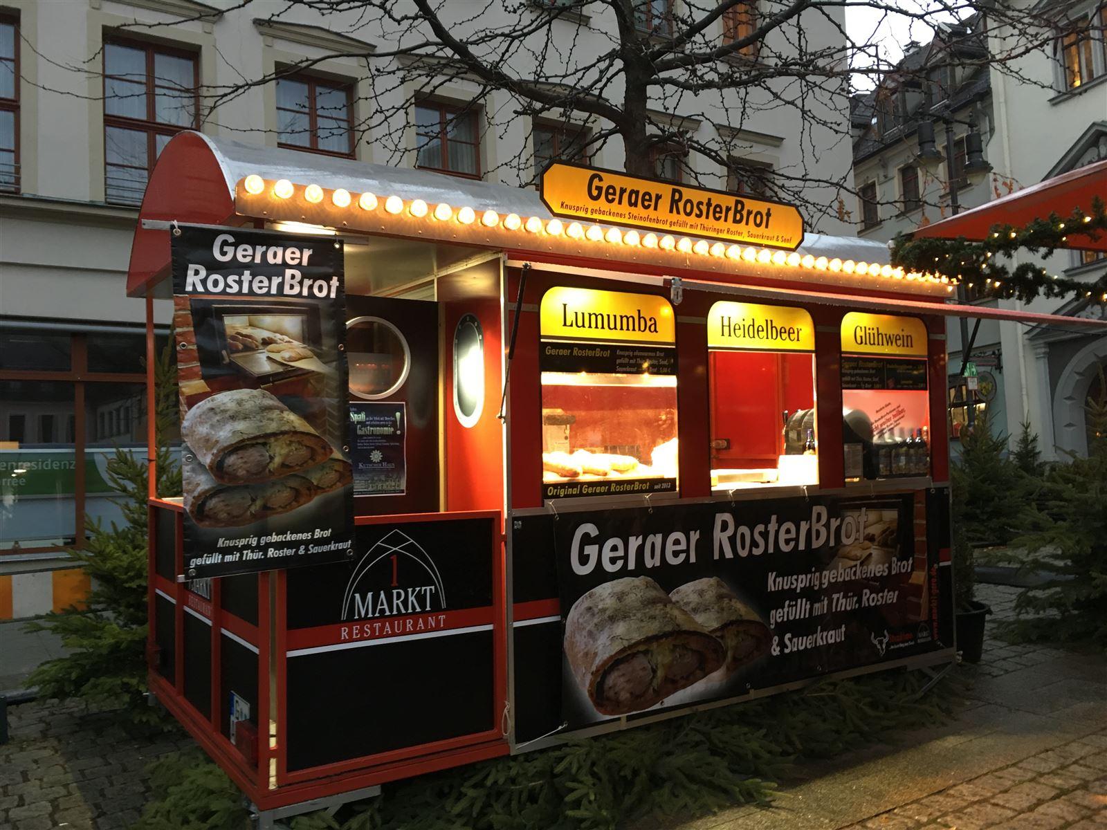Geraer Rosterbrot auf dem Märchenmarkt - Weihnachtsmarkt in Gera