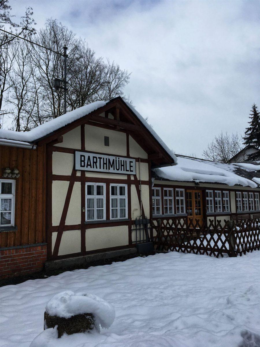 Bahnhof Bartmühle - Ausgangspunkt für mehrere Wanderrouten im Elstertal