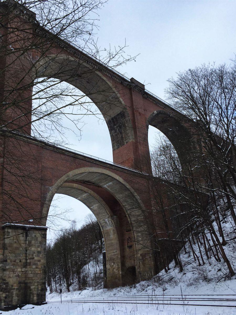 Wanderung durch das winterliche Elstertal zur Elstertalbrücke / Sachsen / Vogtland