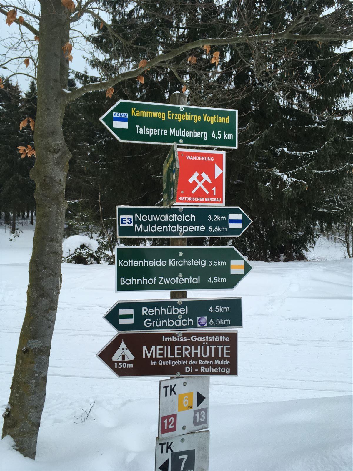 Ausflug im Winter nach Schöneck - Meiler