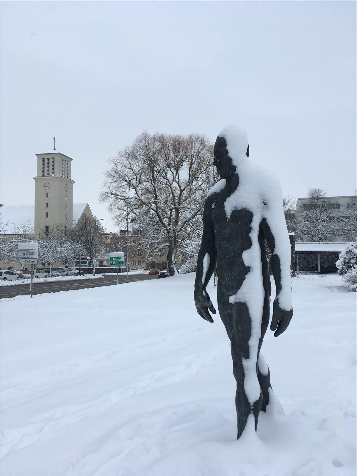 Ausflug im Winter in Sachsen - winterlicher Spaziergang durch Plauen