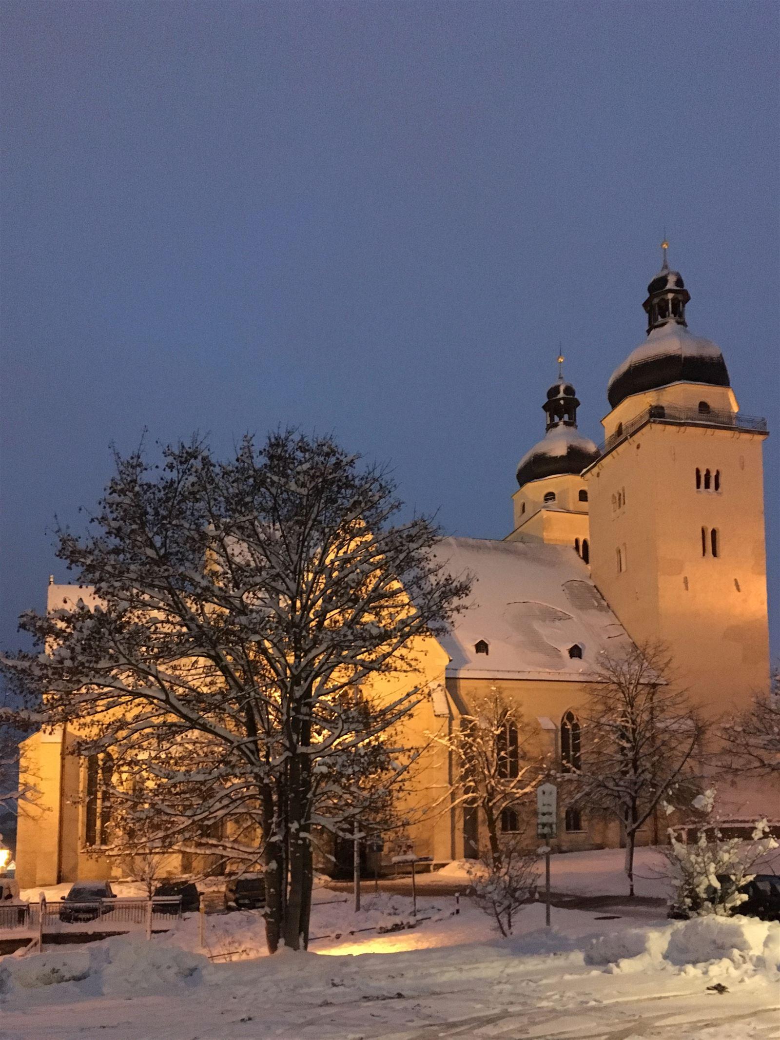 Winterausflug in Sachsen - winterlicher Spaziergang durch Plauen - Johanniskirche
