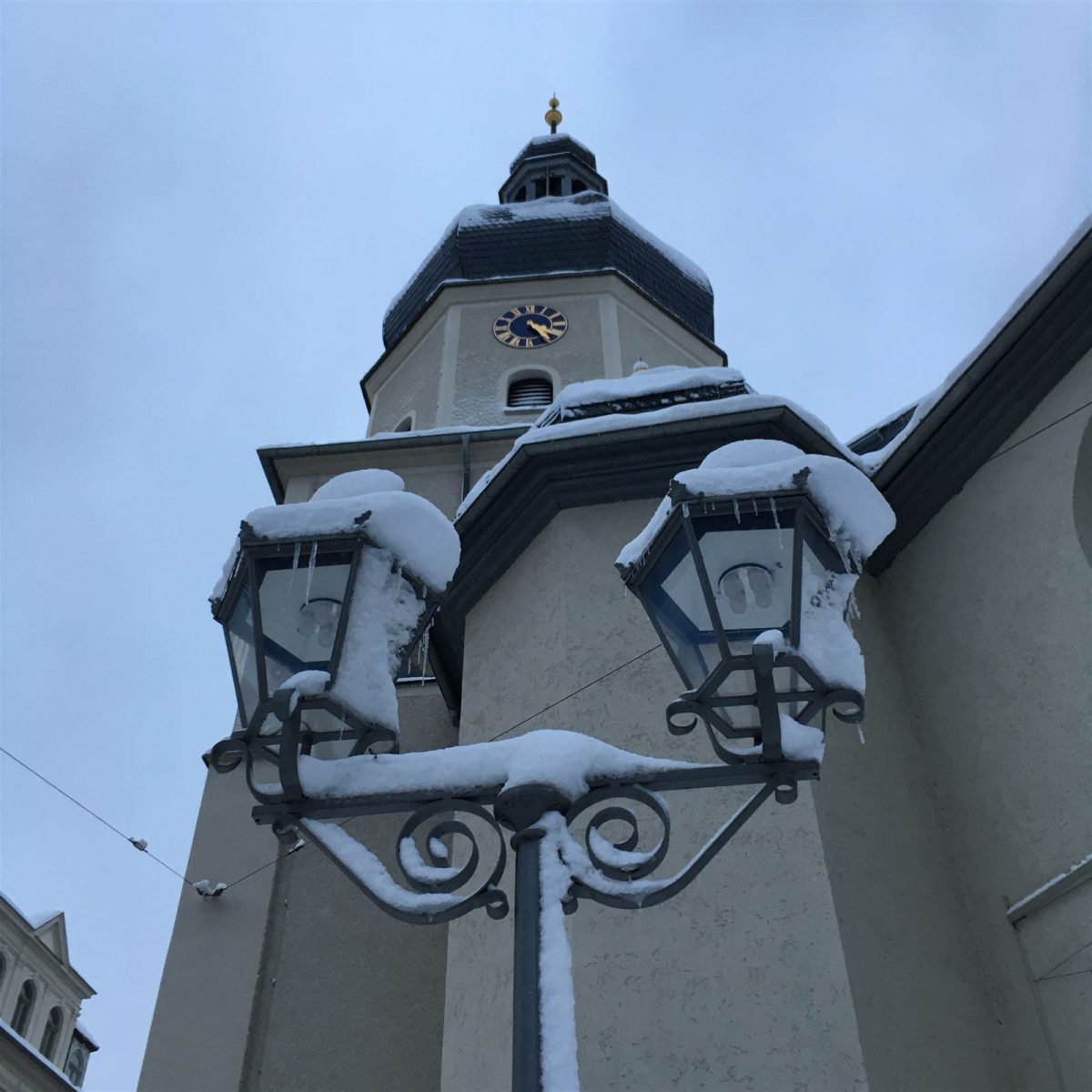 An der Lutherkirche in Plauen