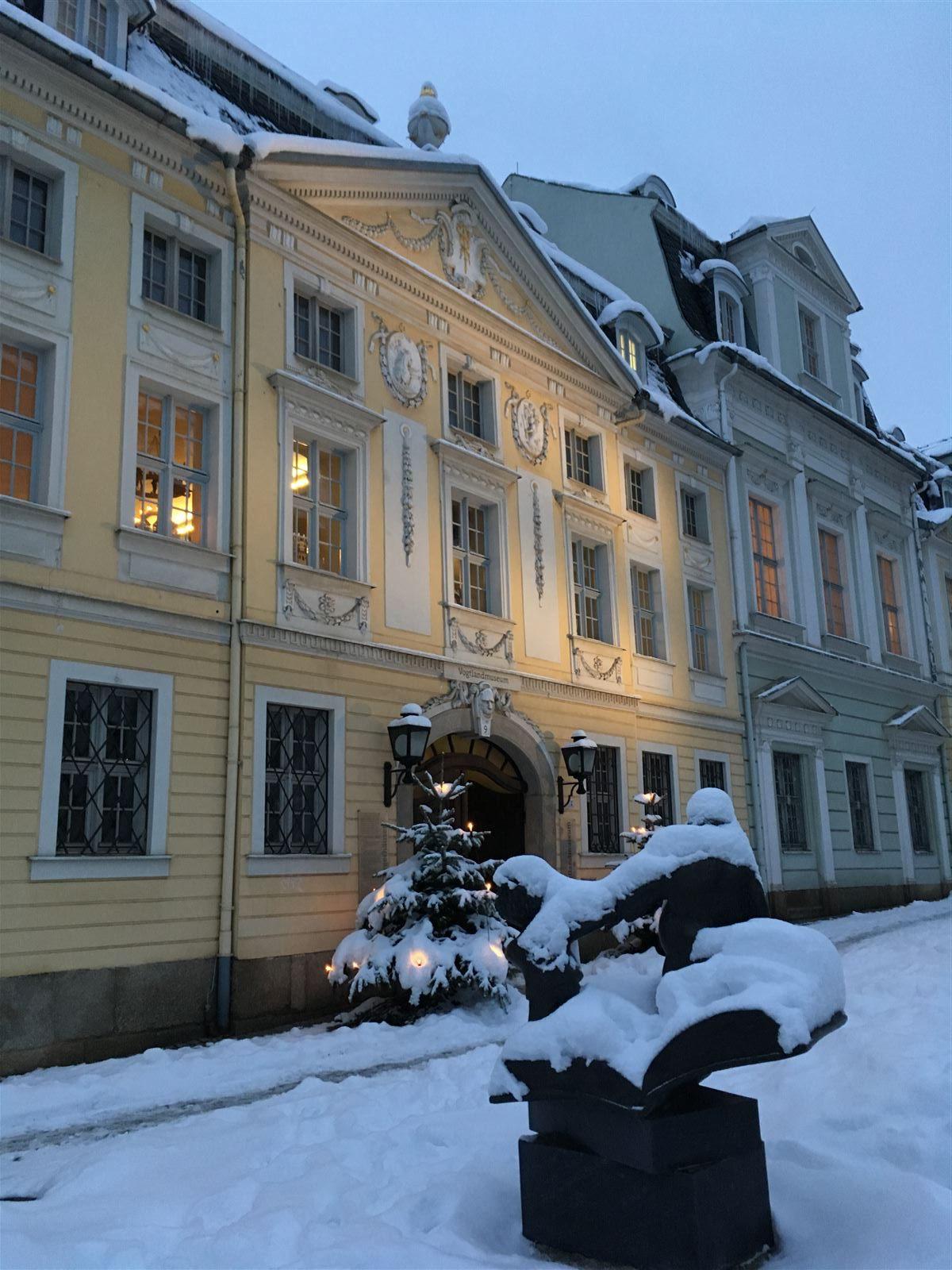 Winterausflug in Sachsen - winterlicher Spaziergang durch Plauen - Vogtlandmuseum
