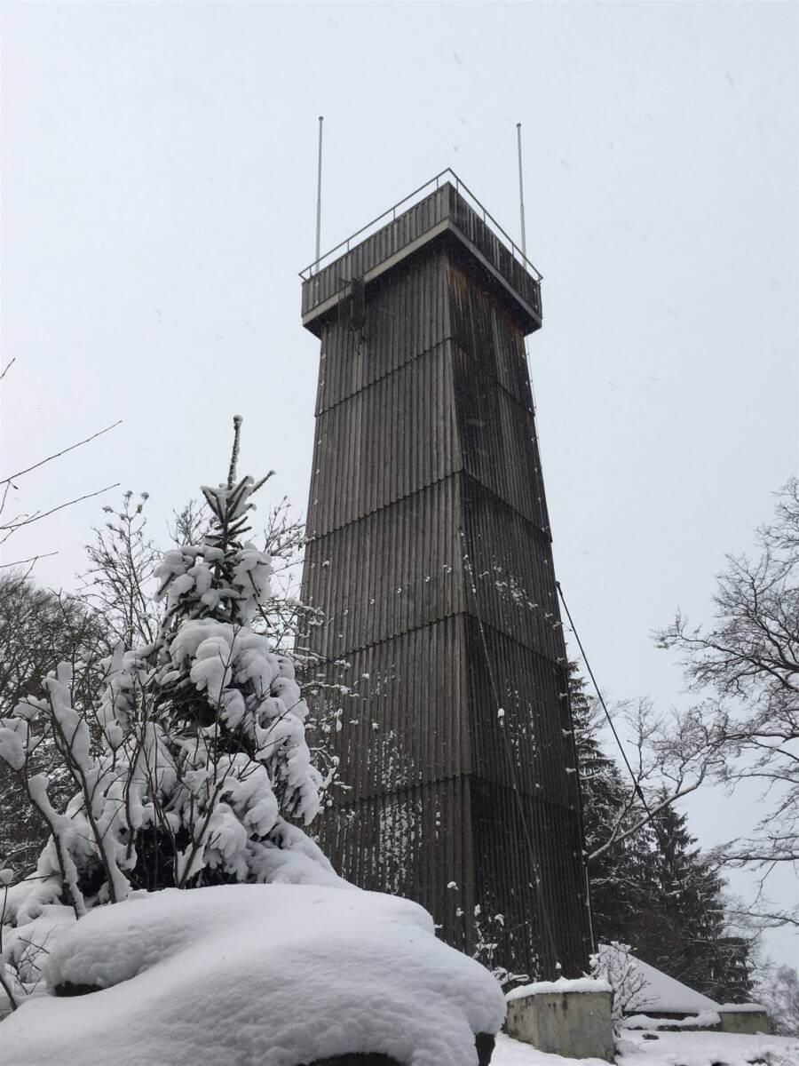 Ausflug zum Steinbergturm - höchster Berg im östlichen Vogtland und westlichen Erzgebirge / Sachsen