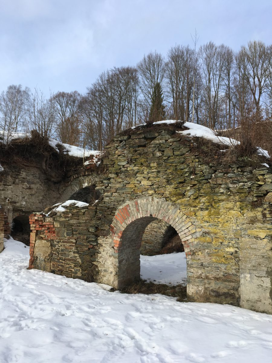 Ausflug - Burgruine der Burg Neuberg in Podhradi