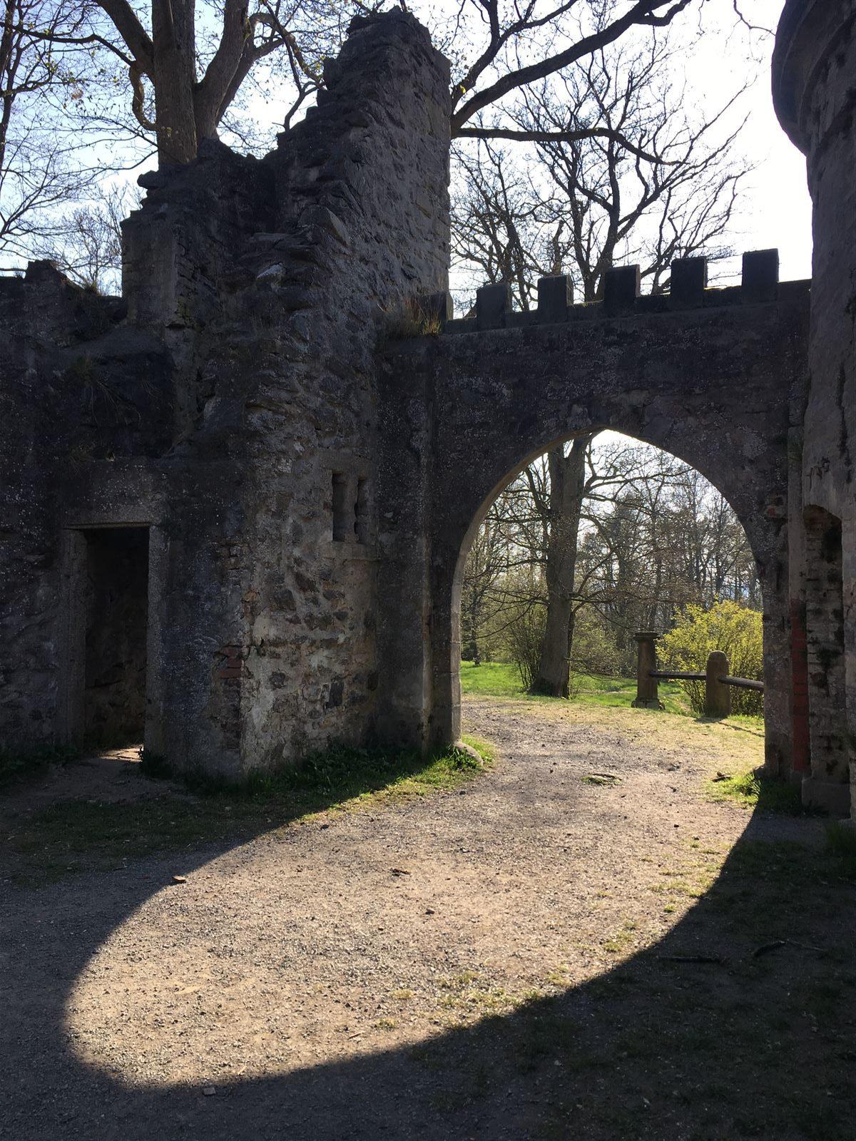 Noch ein Blick auf den Torbogen am Theresienstein in Hof
