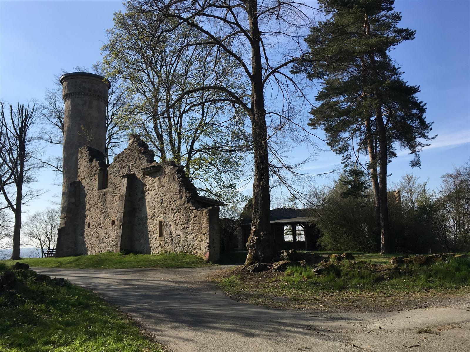 Das Labyrinth - eine künstliche Burgruine am Theresienstein in Hof
