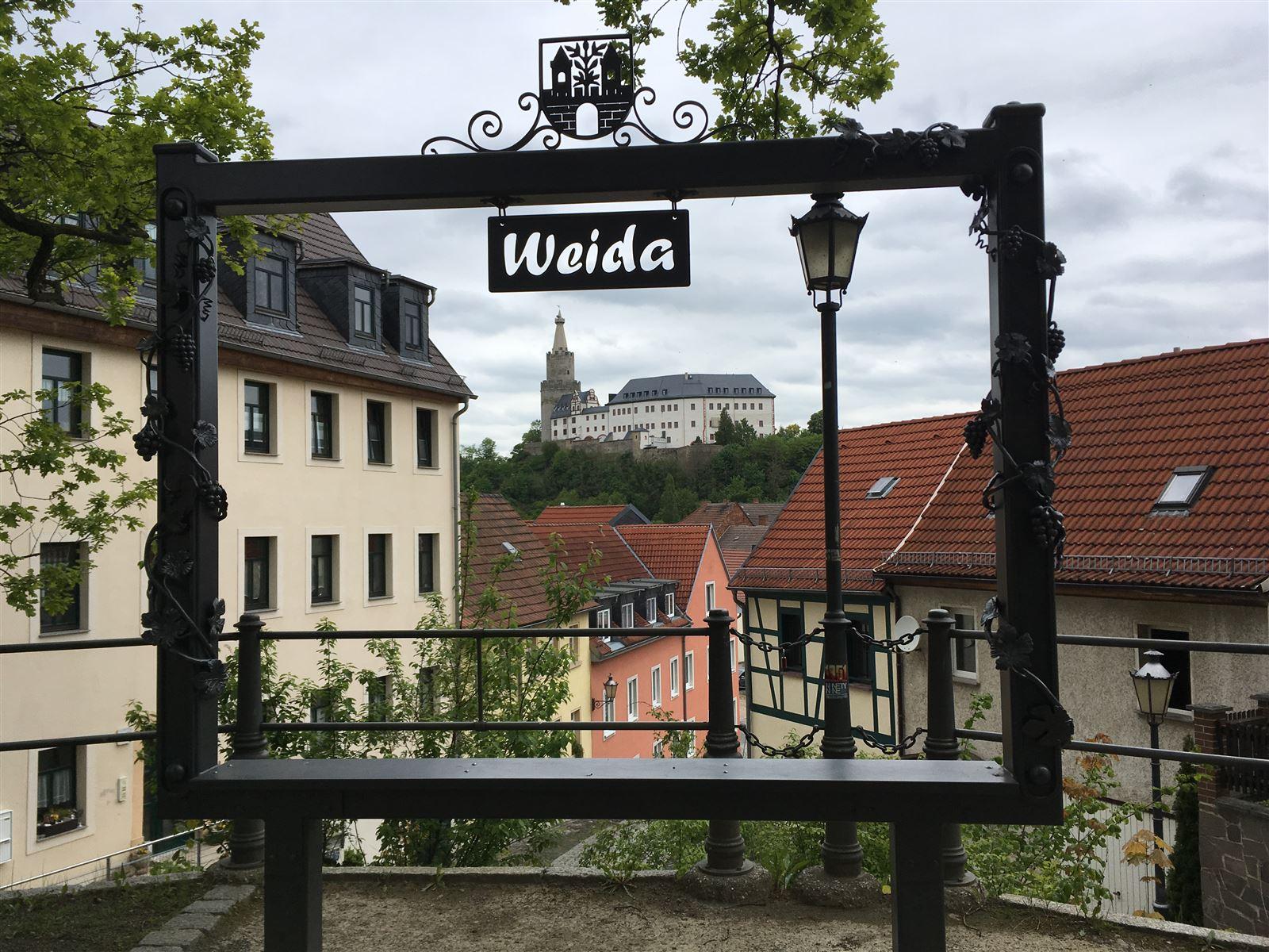 Stadtrundgang auf dem Kulturweg der Vögte durch Weida - Bilderrahmen - Selfiepoint