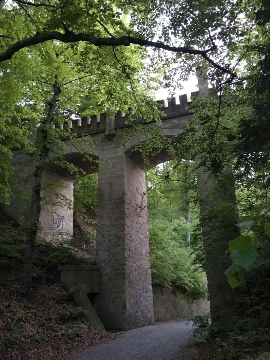 Ausflug - Spaziergang durch Gera Untermhaus - Wolfsbrücke am Schloss Osterstein