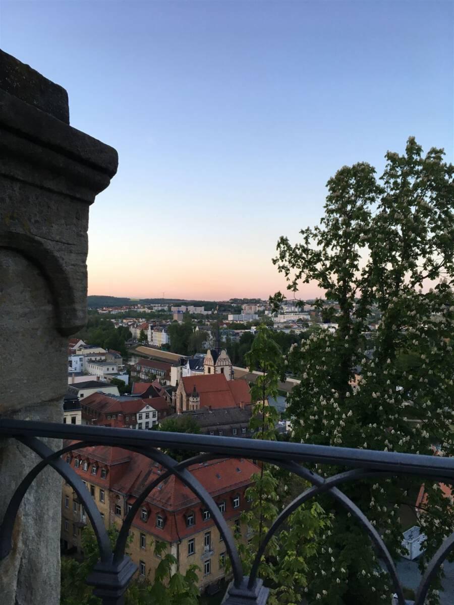 Ausflug - Spaziergang durch Gera Untermhaus - Blick vom Schloss Osterstein