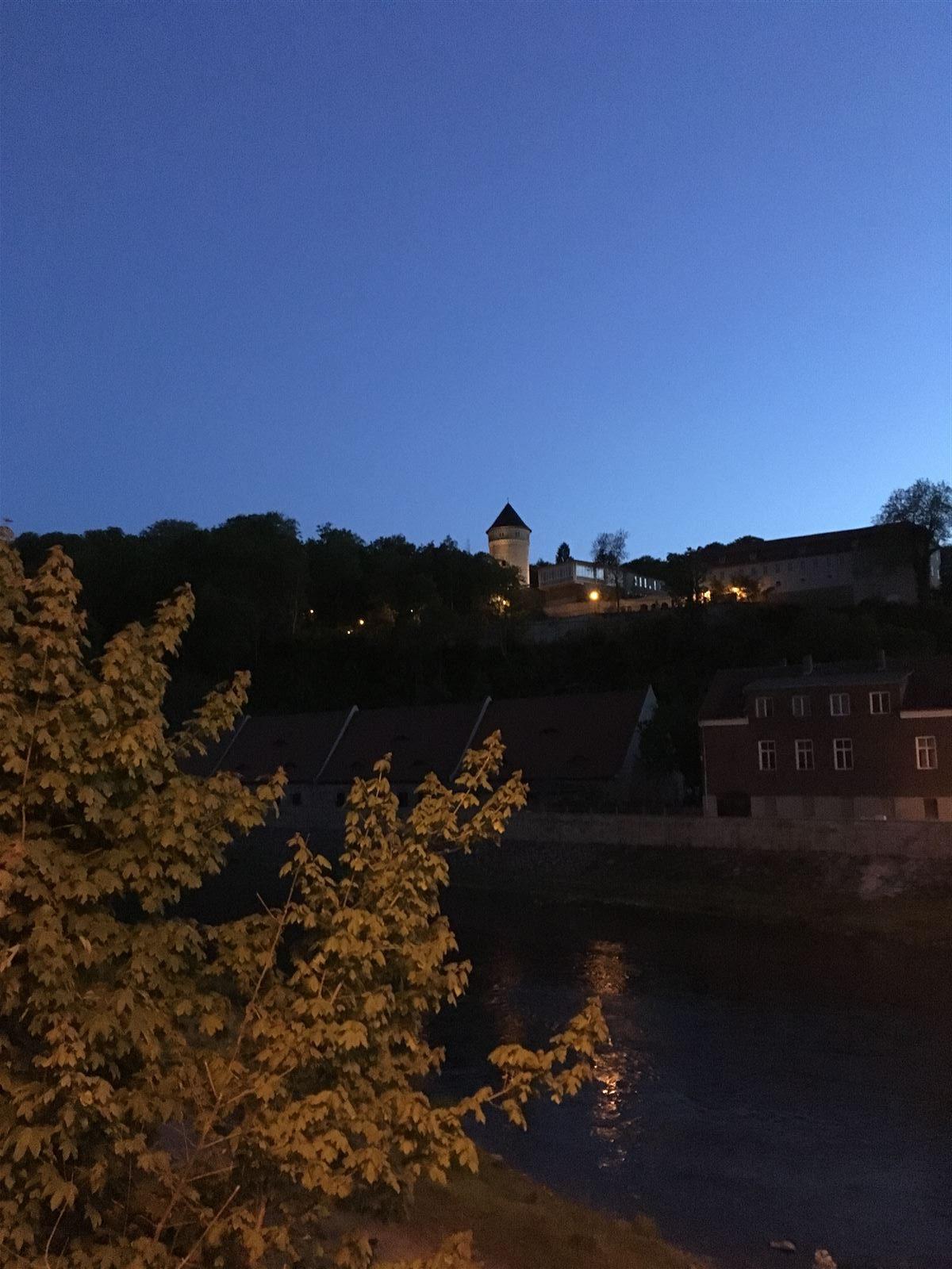 Gera Untermhaus Blick zum Turm des Schlosses Osterstein