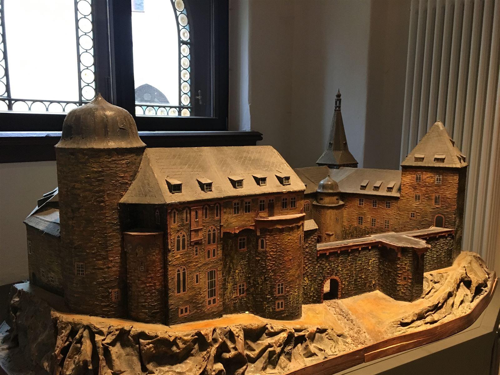 Burg Mylau als Modell in der Ausstellung