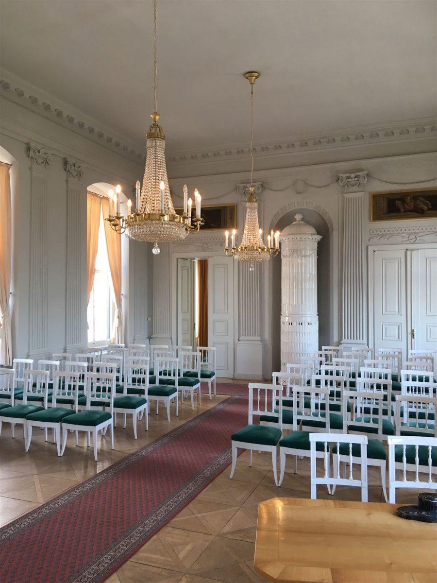 Ausflug zum Schloss Wildenfels in Sachsen - festsaal
