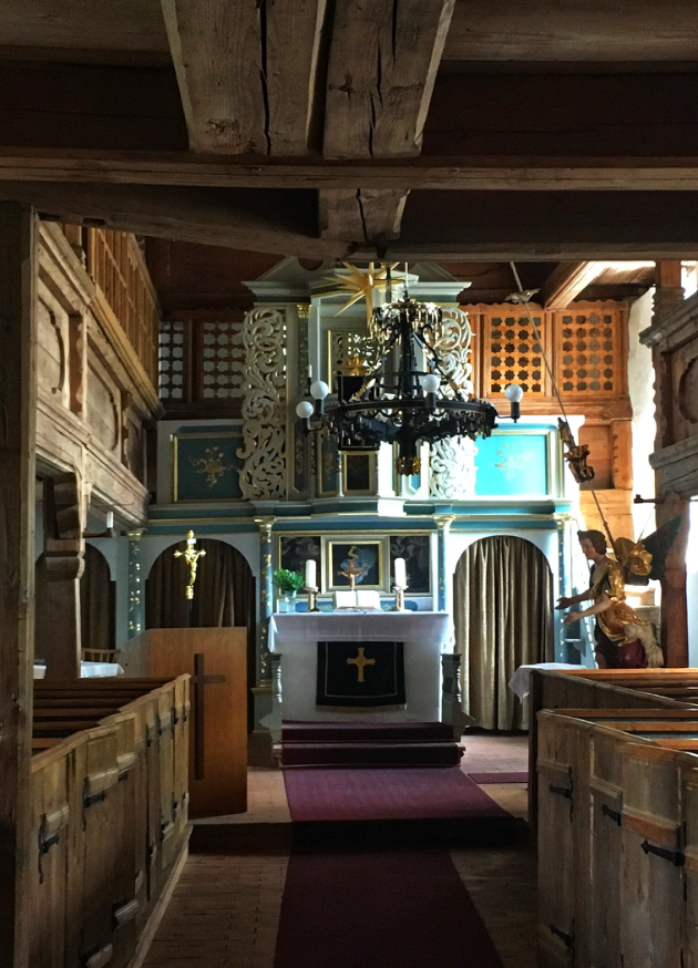 Blick ins Innere der Kirche von Sparnberg
