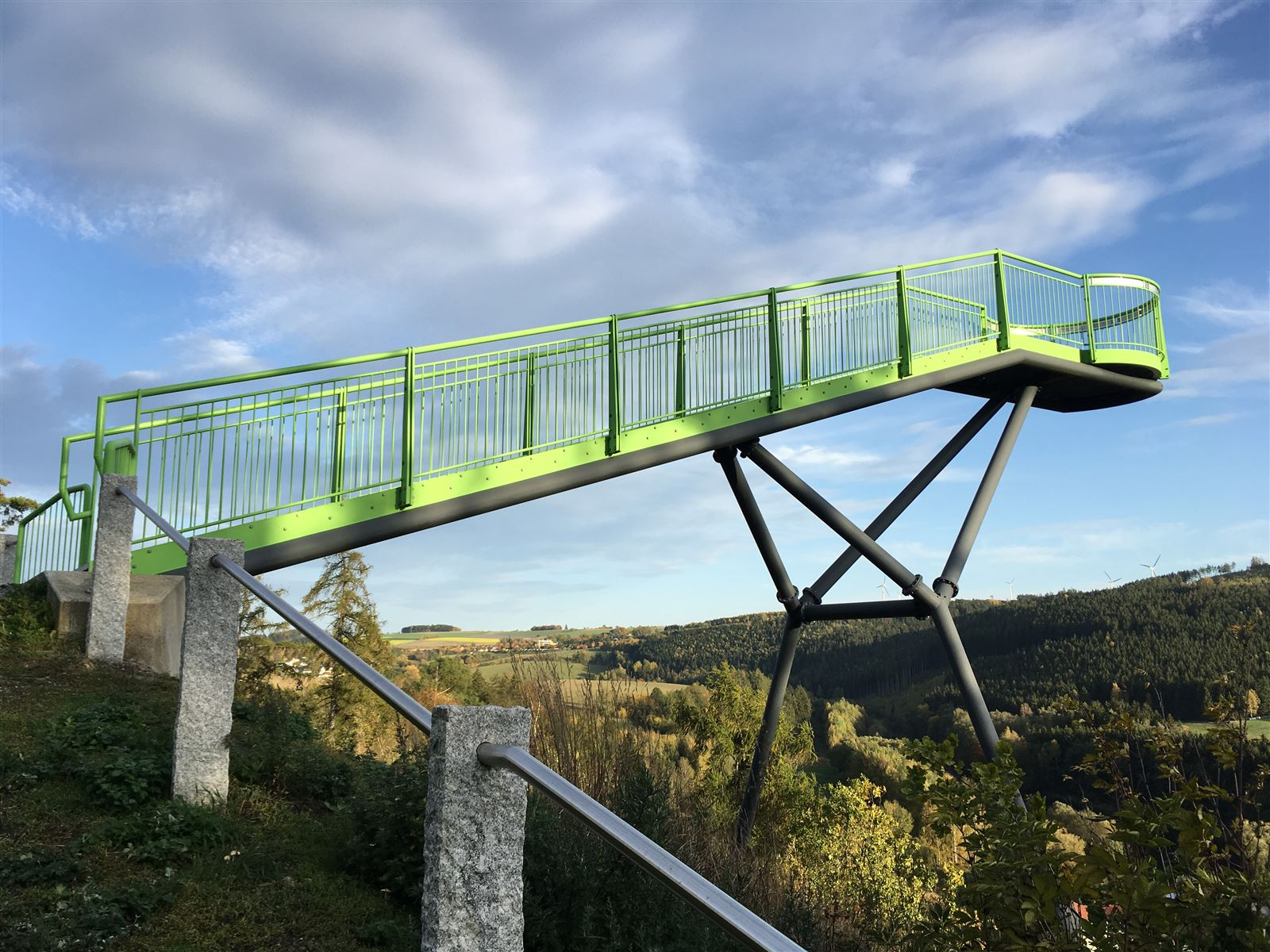 Der Skywalk in Pottiga