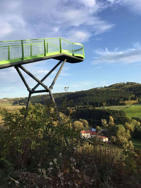 Der Skywalk in Pottiga – grandioser Ausblick über das Saaletal