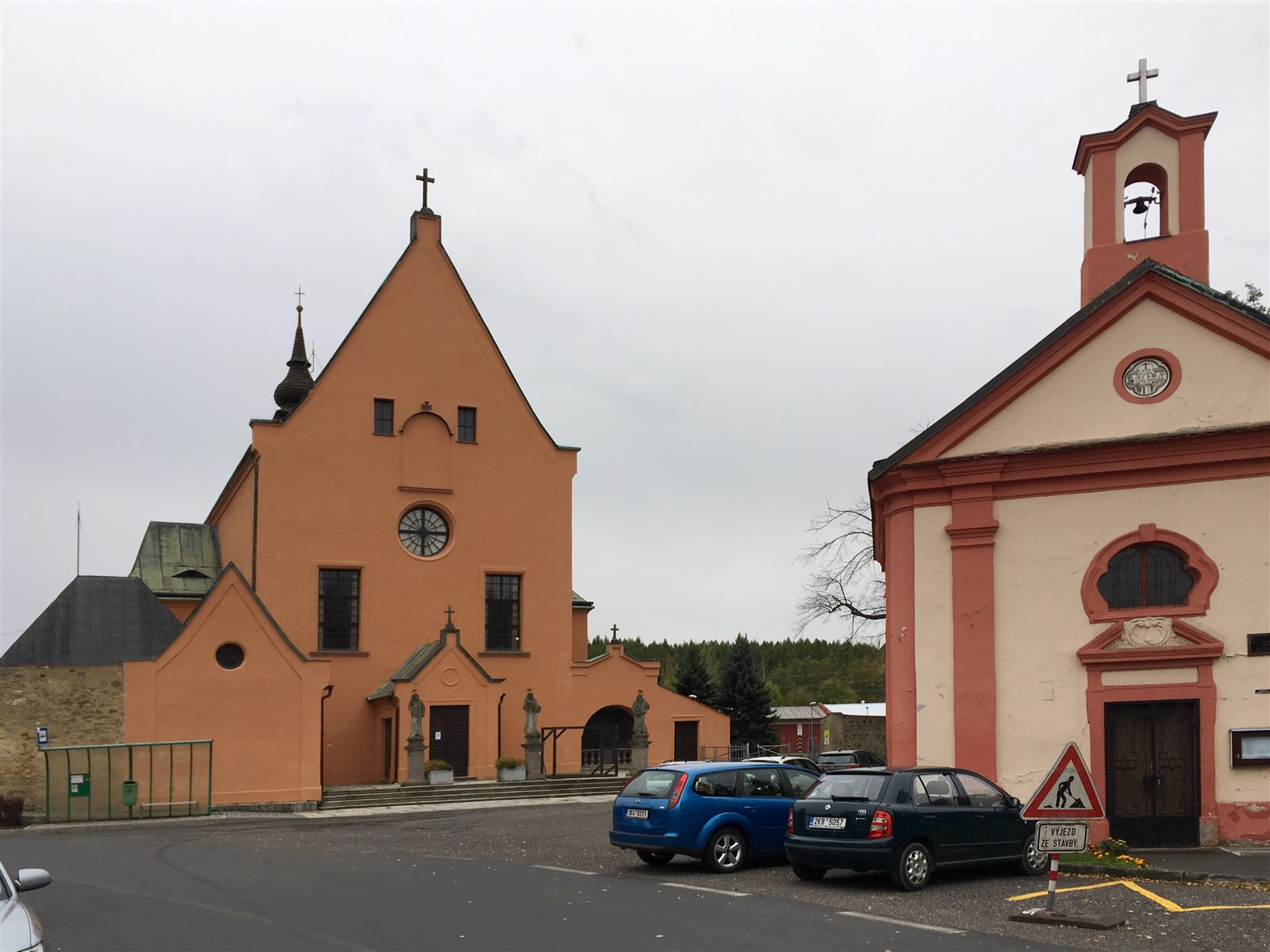 Kloster und Barockkapelle in Sokolov