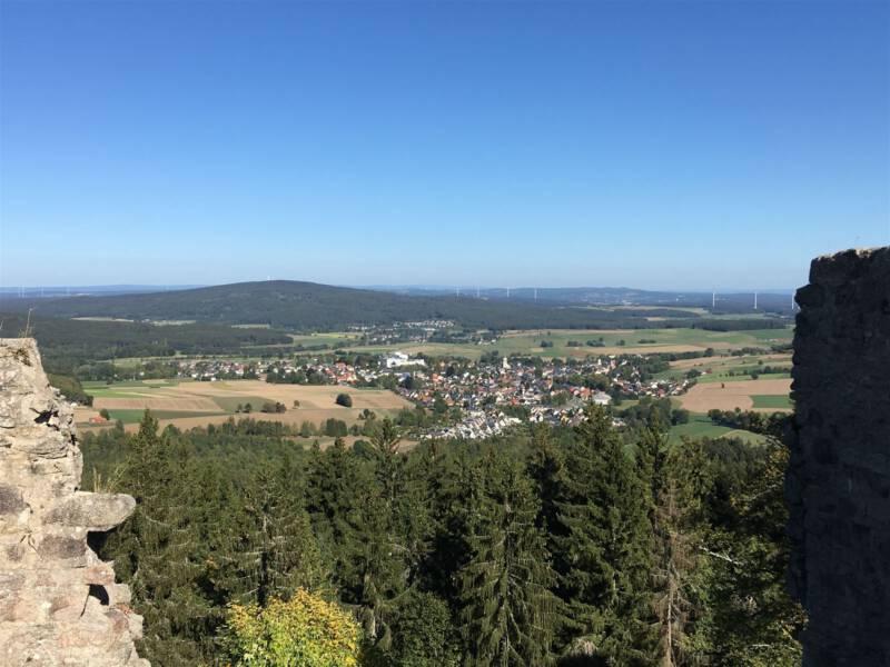 Blick von der Burgruine Epprechtstein