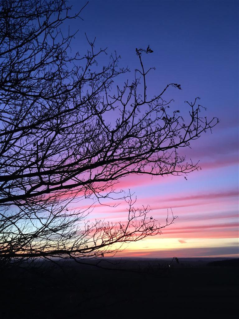 Sonnenuntergang am Reuster Berg